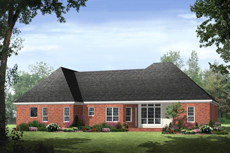 Southern Exterior - Rear Elevation Plan #21-234 - Houseplans.com
