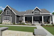 Farmhouse Style House Plan - 3 Beds 2.5 Baths 2479 Sq/Ft Plan #1069-17 Exterior - Front Elevation