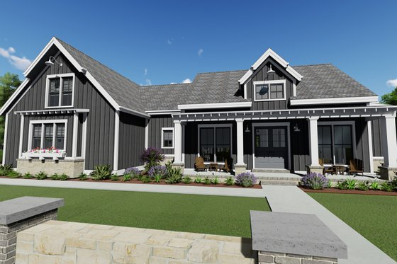 Farmhouse Exterior - Front Elevation Plan #1069-17