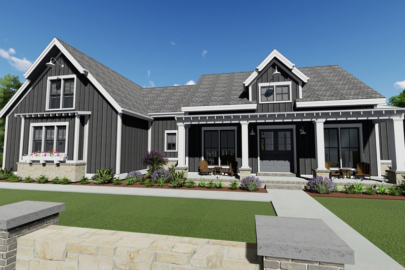 House Plan Design - Farmhouse Exterior - Front Elevation Plan #1069-17