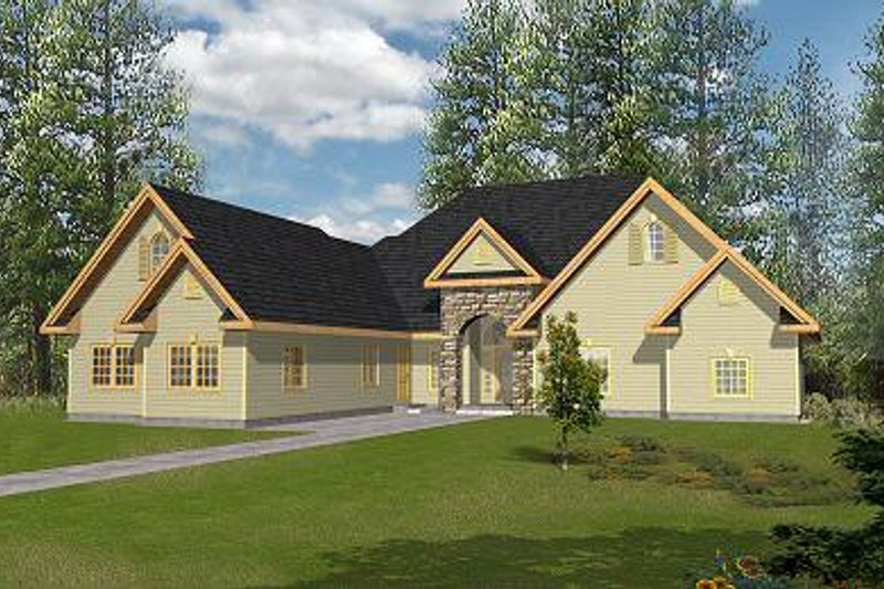 Traditional Exterior - Front Elevation Plan #117-545 - Houseplans.com