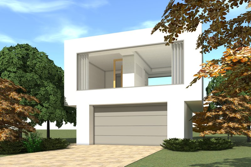 Modern Exterior - Front Elevation Plan #64-212 - Houseplans.com