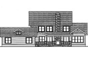 Craftsman Style House Plan - 4 Beds 3 Baths 4003 Sq/Ft Plan #413-117 Exterior - Rear Elevation