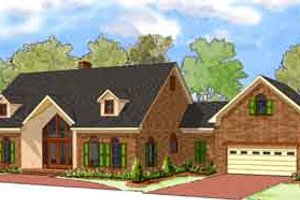 Contemporary Exterior - Front Elevation Plan #8-108