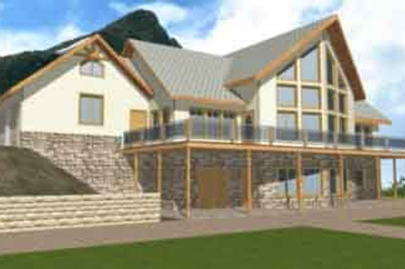 Dream House Plan - Modern Exterior - Front Elevation Plan #117-178