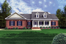 Southern style, country design home, front elevation