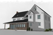 Farmhouse Style House Plan - 4 Beds 3 Baths 3291 Sq/Ft Plan #485-4 Exterior - Rear Elevation