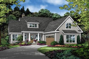 Cottage Exterior - Front Elevation Plan #929-1084