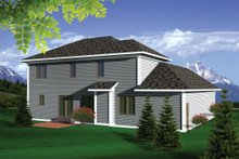 European Exterior - Rear Elevation Plan #70-1100