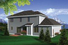 Home Plan - European Exterior - Rear Elevation Plan #70-1100