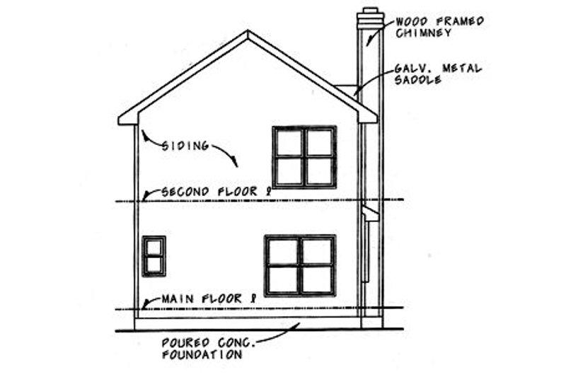 Traditional Exterior - Rear Elevation Plan #20-432 - Houseplans.com