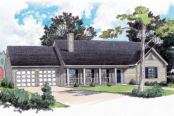 Traditional Exterior - Front Elevation Plan #16-108