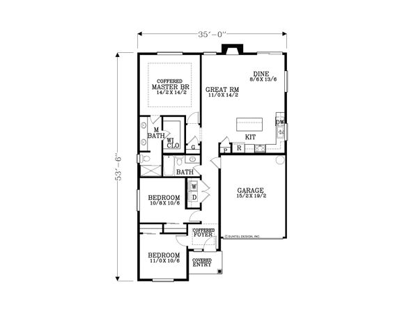 Cottage Floor Plan - Main Floor Plan Plan #53-623