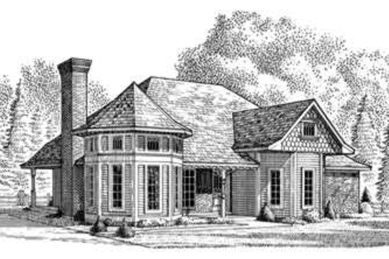 Victorian Exterior - Front Elevation Plan #410-133