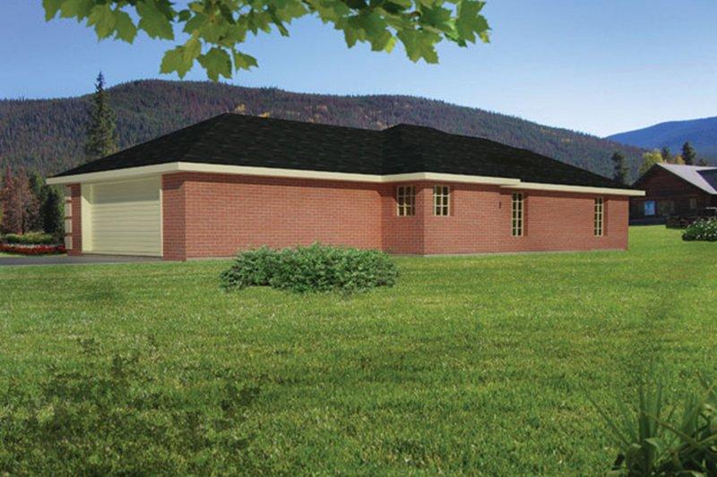 Colonial Exterior - Rear Elevation Plan #1061-26 - Houseplans.com