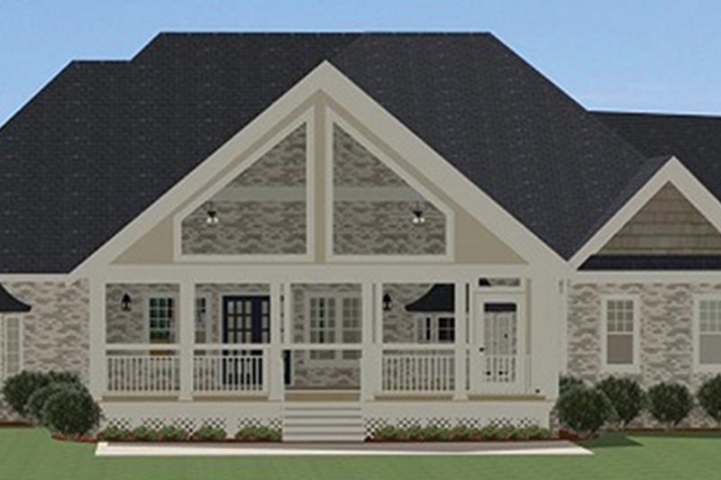 Craftsman Exterior - Rear Elevation Plan #898-36 - Houseplans.com