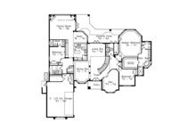 European Floor Plan - Main Floor Plan Plan #417-813