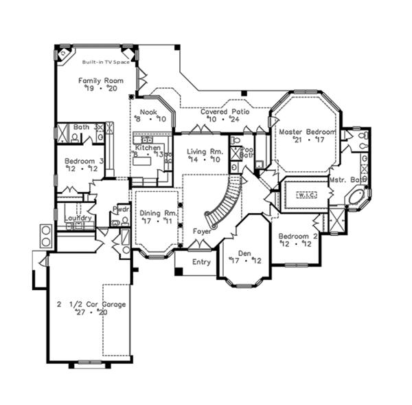 House Plan Design - European Floor Plan - Main Floor Plan #417-813