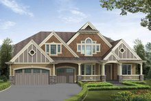 Architectural House Design - Craftsman Exterior - Front Elevation Plan #132-503