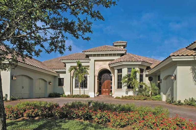Architectural House Design - Mediterranean Exterior - Front Elevation Plan #930-315
