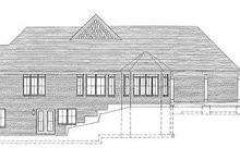 House Design - Traditional Exterior - Rear Elevation Plan #46-418