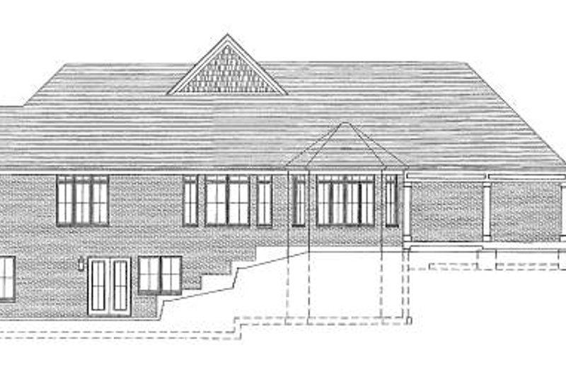 Traditional Exterior - Rear Elevation Plan #46-418 - Houseplans.com