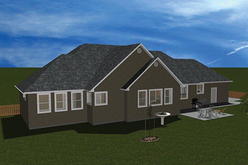 Ranch Exterior - Rear Elevation Plan #1060-26 - Houseplans.com