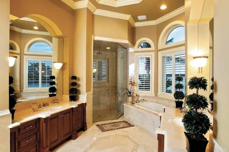 Mediterranean Interior - Bathroom Plan #1017-14 - Houseplans.com