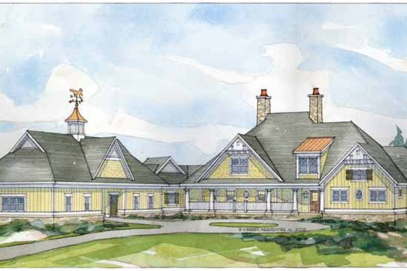 House Plan Design - Traditional Exterior - Front Elevation Plan #928-33
