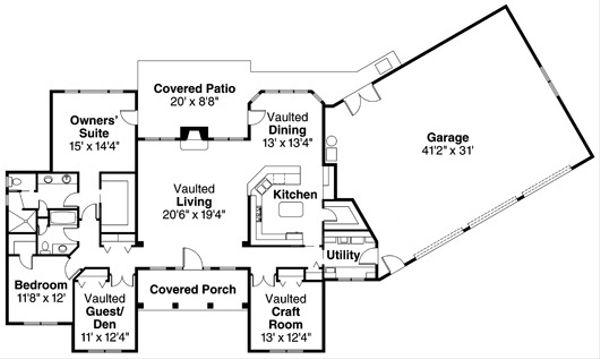 Traditional Floor Plan - Main Floor Plan Plan #124-721