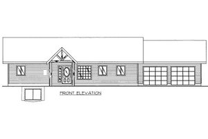 Cabin Exterior - Front Elevation Plan #117-785