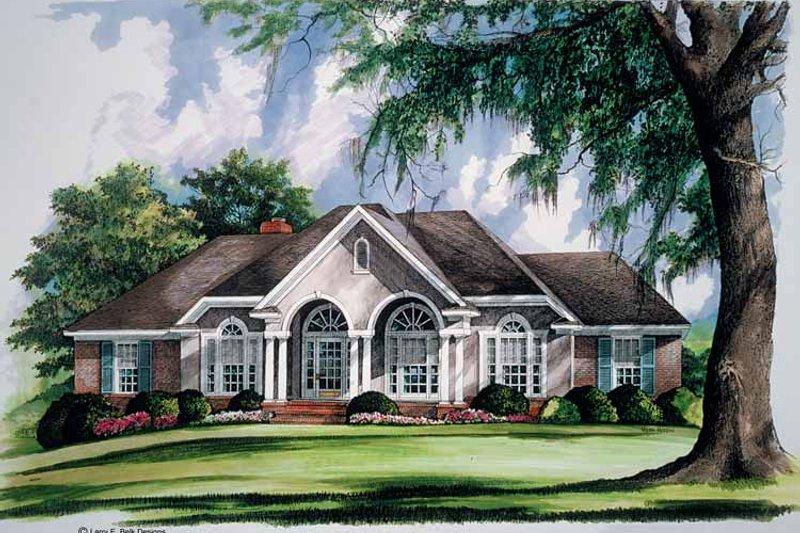 House Plan Design - Adobe / Southwestern Exterior - Front Elevation Plan #952-237