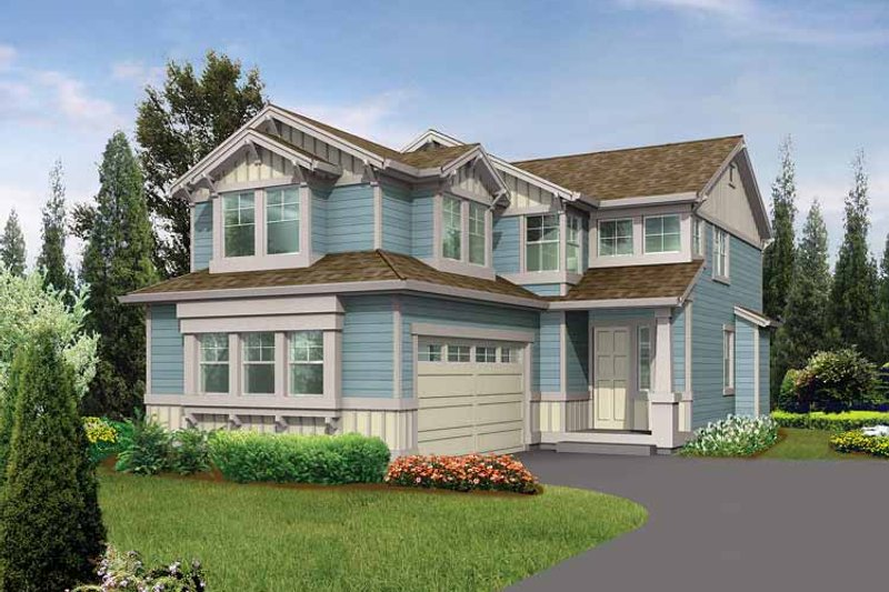 Architectural House Design - Craftsman Exterior - Front Elevation Plan #132-264