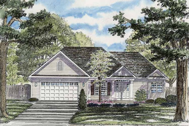 Ranch Exterior - Front Elevation Plan #316-243 - Houseplans.com