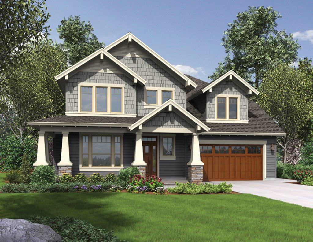Craftsman style house plan 3 beds 2 5 baths 2936 sq ft for Home exterior planner