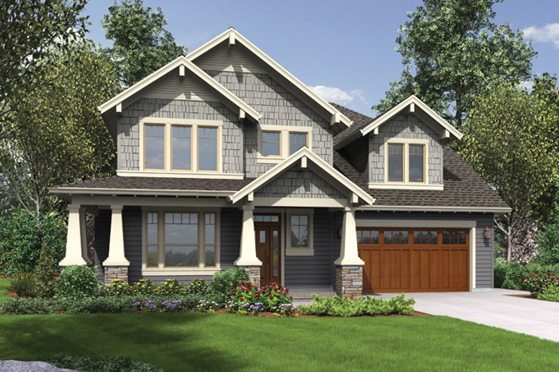 Craftsman Exterior - Front Elevation Plan #48-914