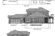 Mediterranean Style House Plan - 4 Beds 3.5 Baths 3280 Sq/Ft Plan #24-225 Exterior - Rear Elevation