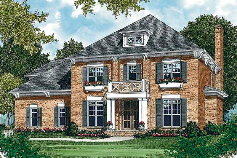 Colonial Exterior - Front Elevation Plan #453-160 - Houseplans.com