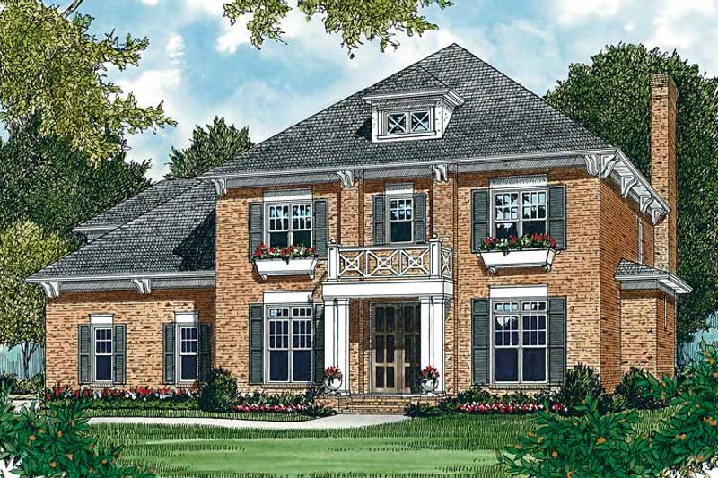 Colonial Exterior - Front Elevation Plan #453-160