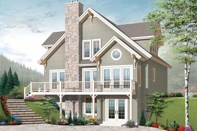 European Exterior - Rear Elevation Plan #23-2513 - Houseplans.com