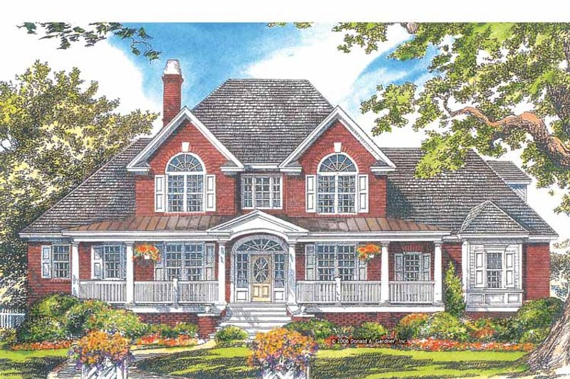 Country Exterior - Front Elevation Plan #929-886 - Houseplans.com