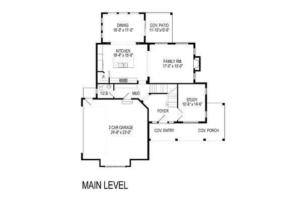 Craftsman Floor Plan - Main Floor Plan Plan #920-35