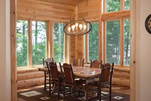 Log Interior - Dining Room Plan #928-263
