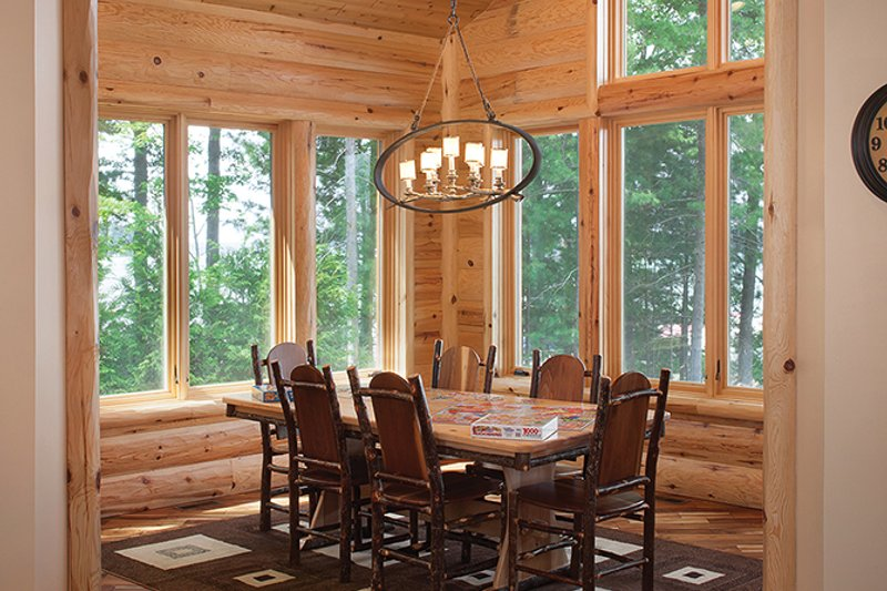 Log Interior - Dining Room Plan #928-263 - Houseplans.com