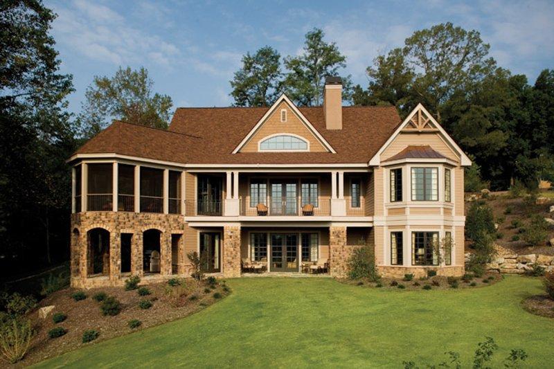Craftsman Exterior - Rear Elevation Plan #929-932 - Houseplans.com
