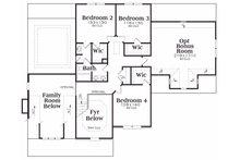 Craftsman Floor Plan - Upper Floor Plan Plan #419-177