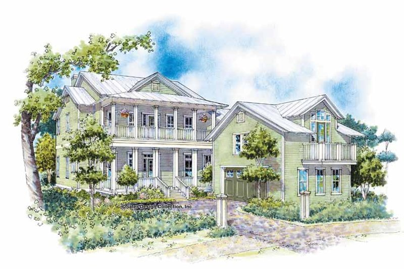 Country Exterior - Front Elevation Plan #930-87