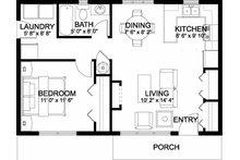 Bungalow Floor Plan - Main Floor Plan Plan #126-207