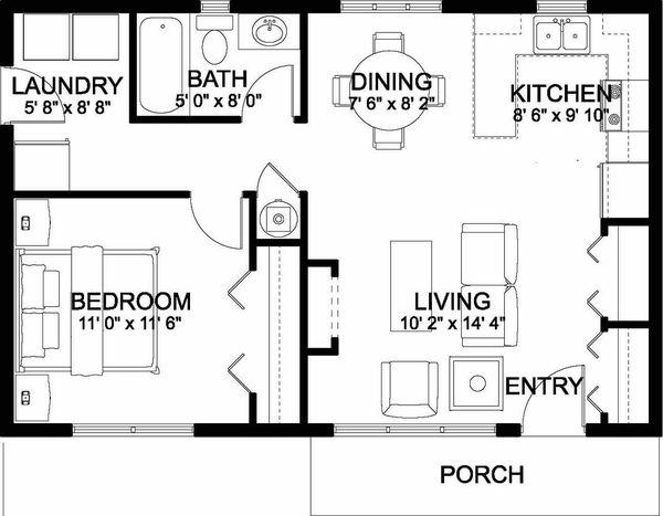 Home Plan - Bungalow Floor Plan - Main Floor Plan #126-207