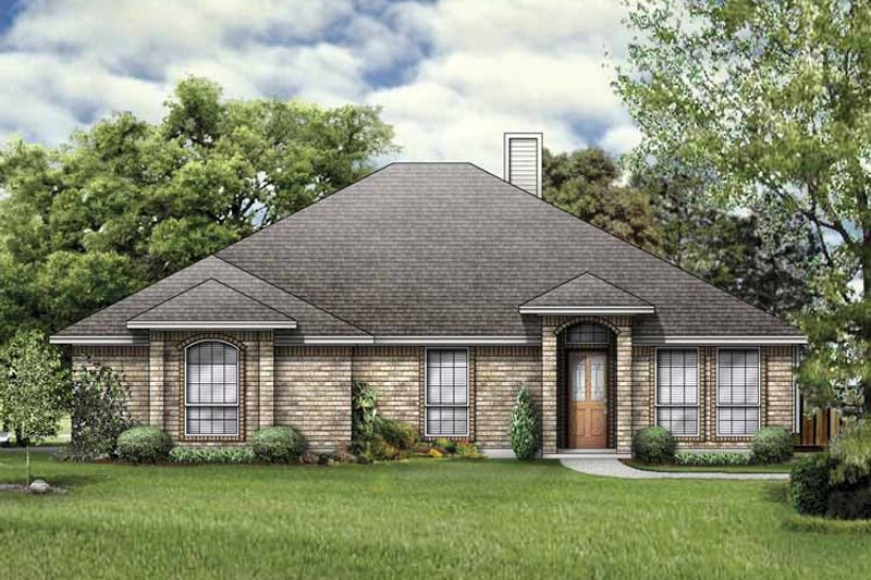 House Plan Design - Traditional Exterior - Front Elevation Plan #84-761